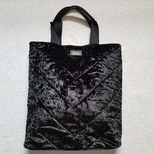 Victoria's Secret crushed velvet tote black